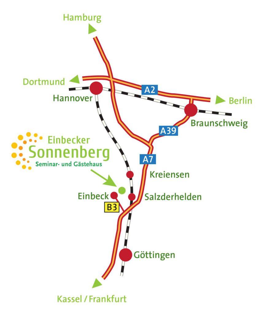 Sonnenberg Anfahrt weiss